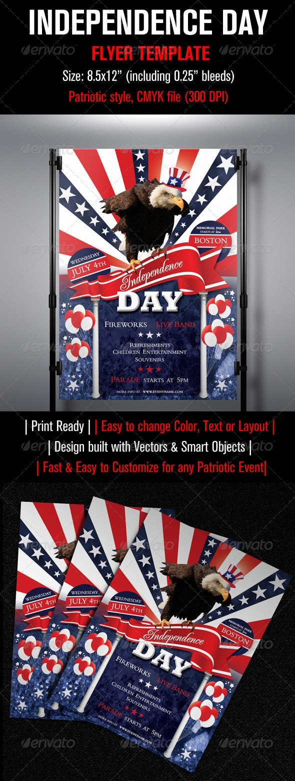 Independence Day Flyer Template - Events Flyers