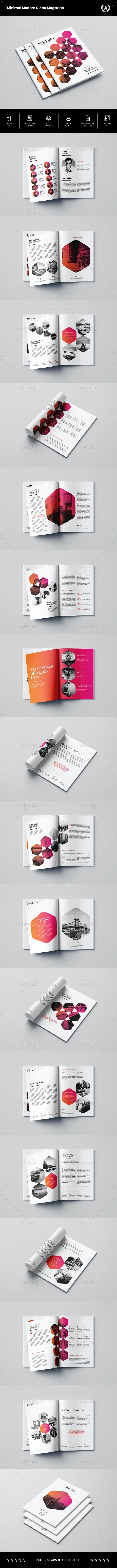 Minimal Modern Clean Magazine - Magazines Print Templates