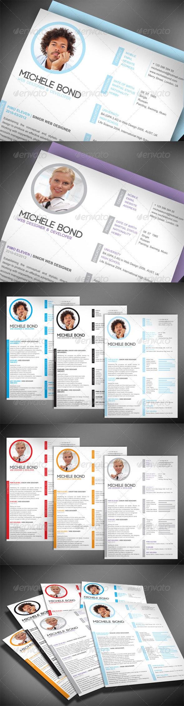 Modern Professional Resume  - Resumes Stationery