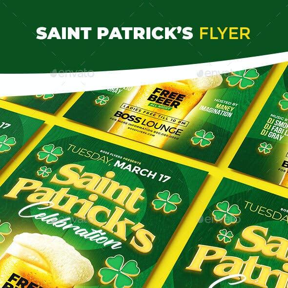Saint Patrick's Celebration Flyer