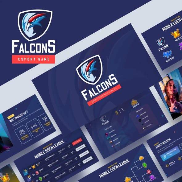 Falcons - Esport & Gaming Powerpoint Template