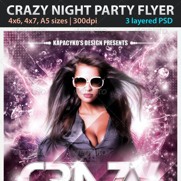 Crazy Night Party Flyer
