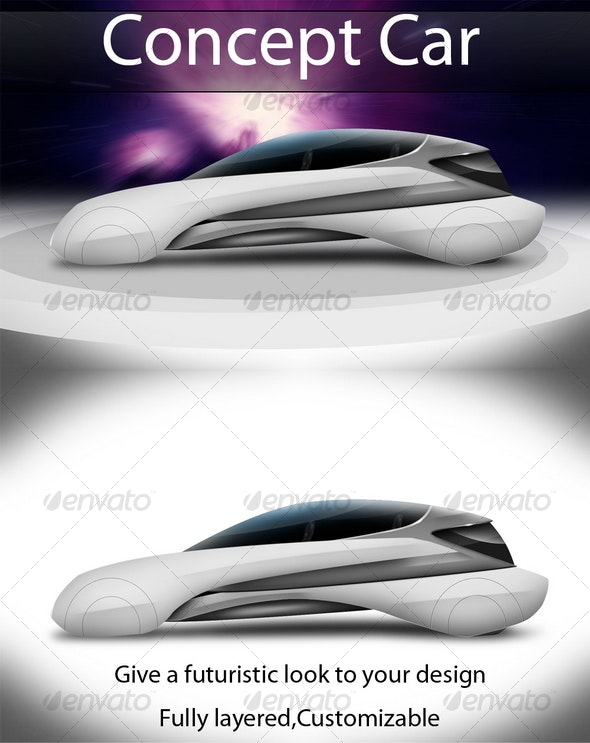 Concept Car - Objects 3D Renders