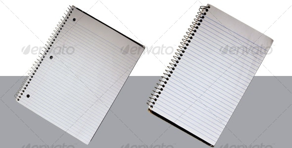 Spiral Bound Notepads - Home & Office Isolated Objects