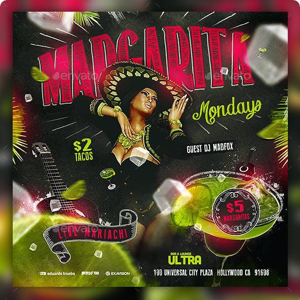 Margarita Mondays Party Flyer