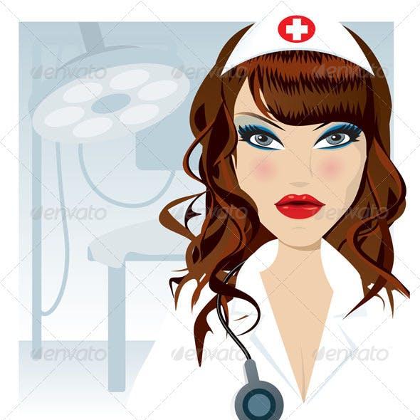 Attractive Female Nurse