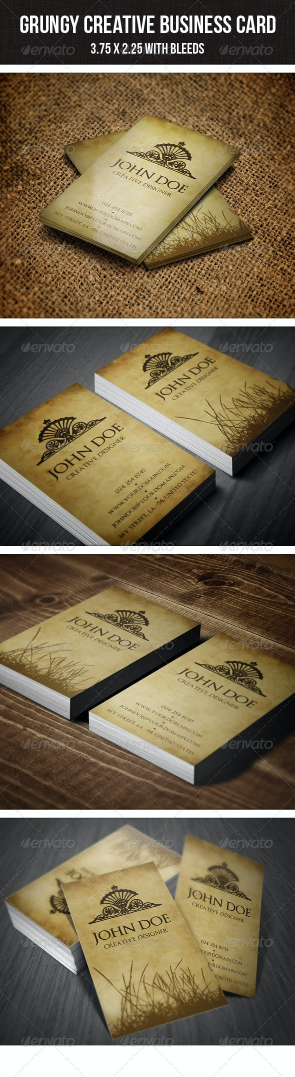 Grungy Minimal Business Card - Grunge Business Cards