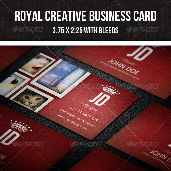 Royal Creative Photographer Business Card - 16