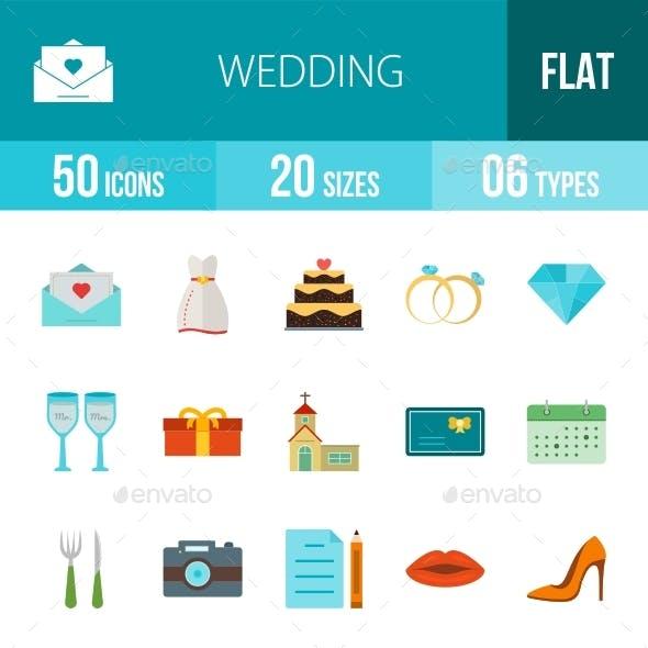 Wedding Flat Multicolor Icons Season II