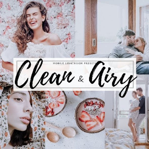 5 Clean & Airy Lightroom Mobile Presets