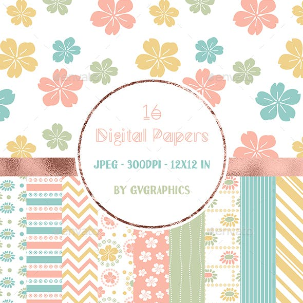 Colorful Pastel Floral Backgrounds