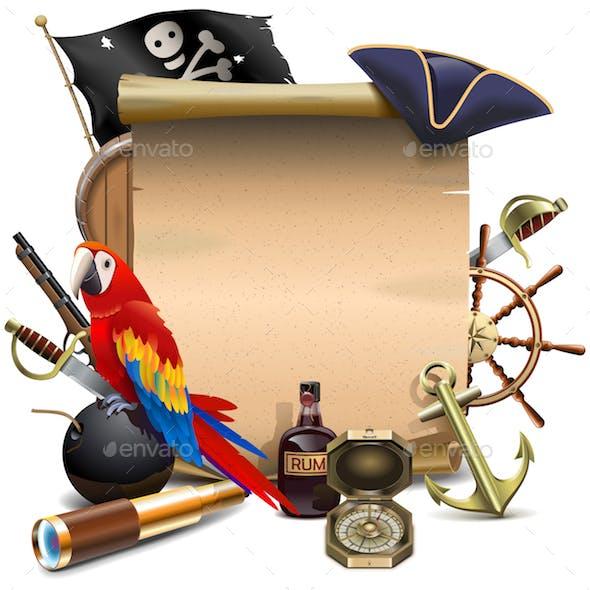 Vector Pirate Paper Scroll
