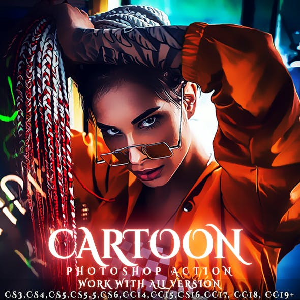 Cartoon Painting Photoshop Action