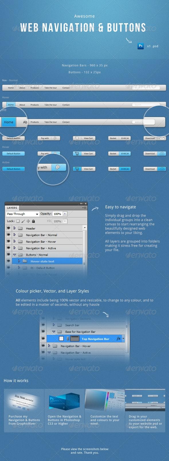Navigation & Buttons Kit