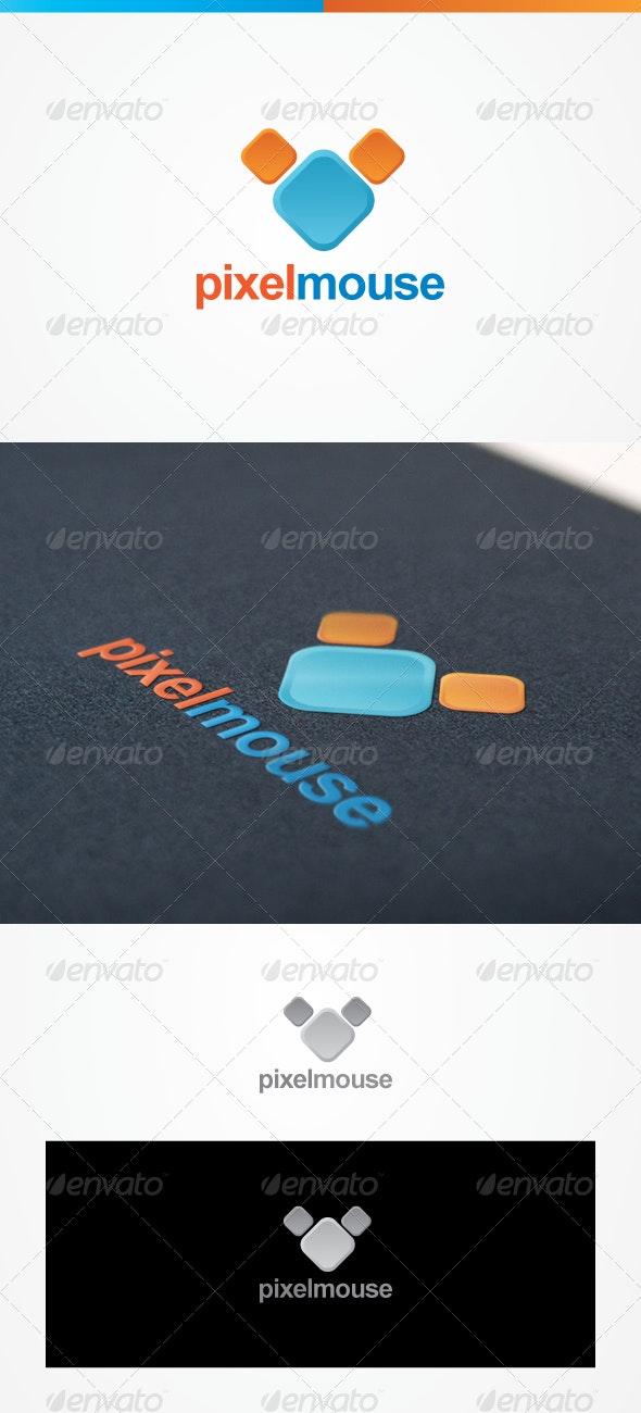 Pixel mouse - Animals Logo Templates