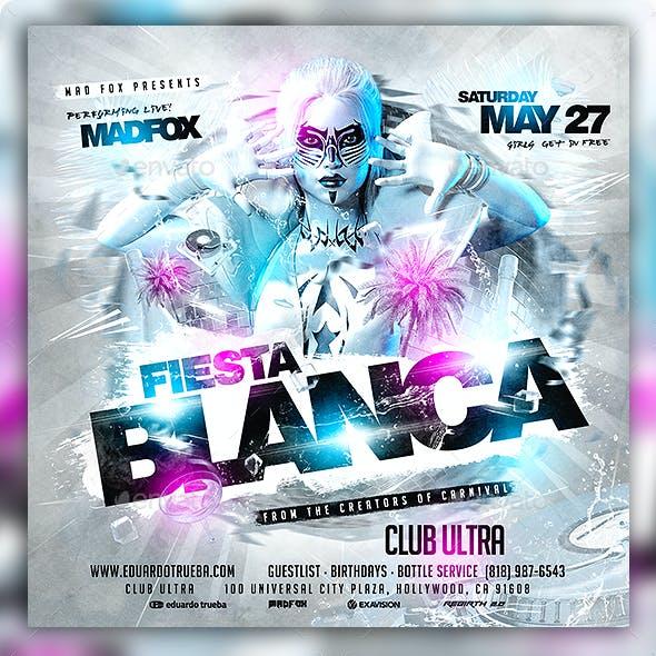 Fiesta Blanca White Party Flyer