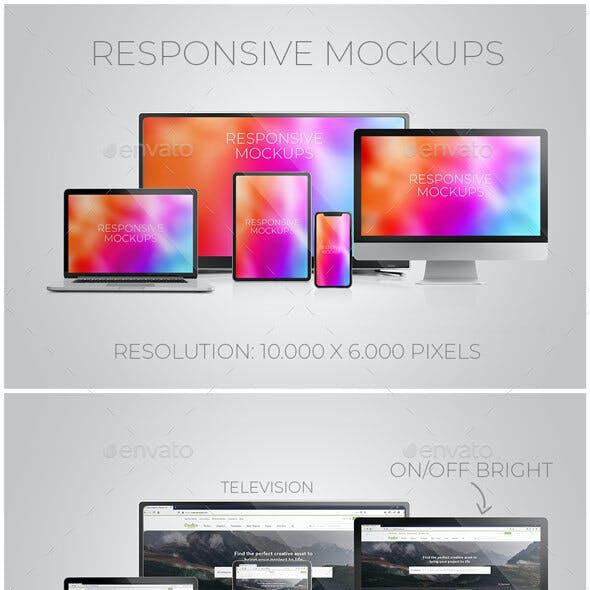 Responsive Mockups / Multi Device