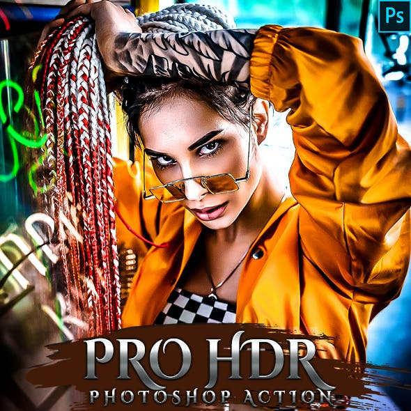 PRO HDR  Photoshop Action