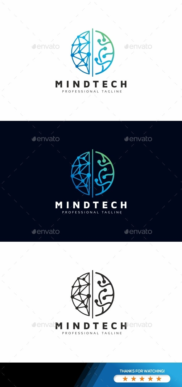 Mind Tech Logo - Symbols Logo Templates