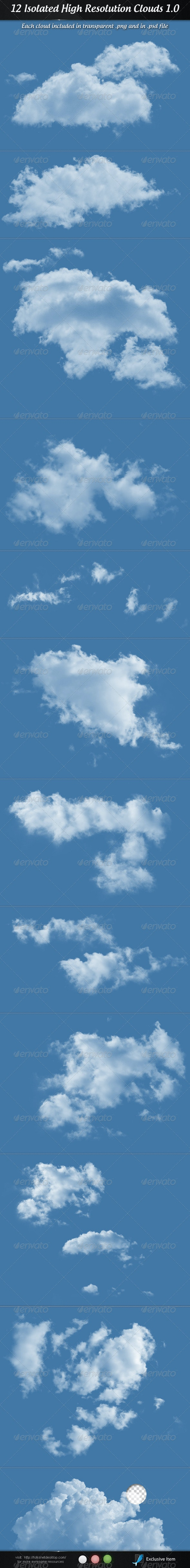Clouds 1.0 - Isolated Objects