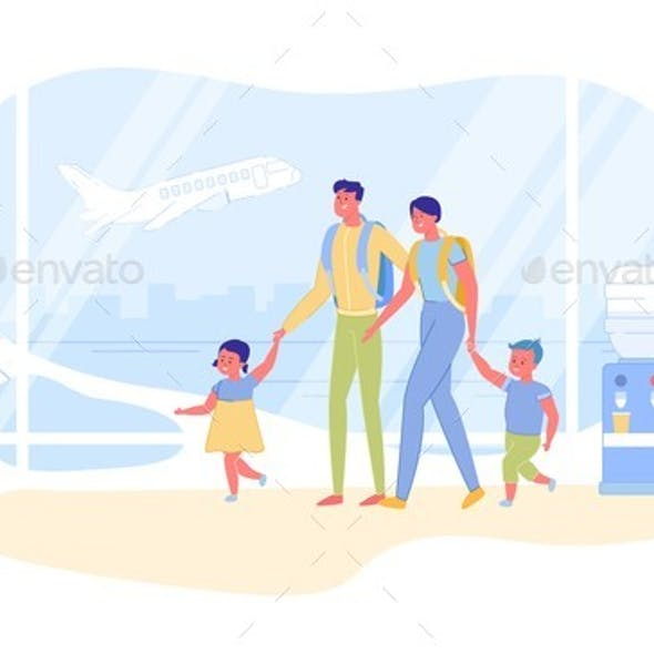 Family International Travel and Vacation Abroad.
