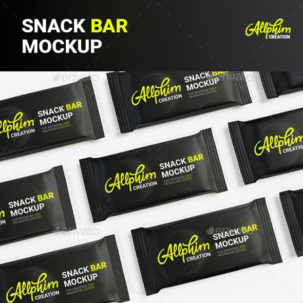 Snack Bar Mockup - Candy, Protein, Chocolate Bar