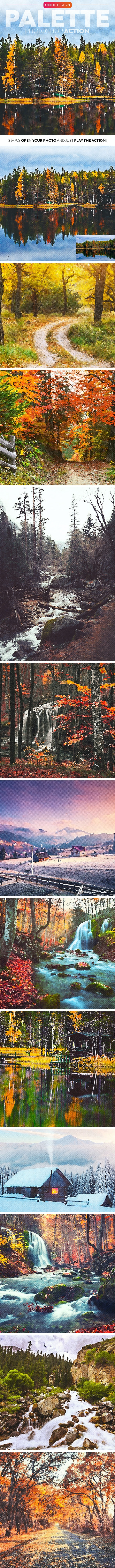 Palette Photoshop Action - Photo Effects Actions