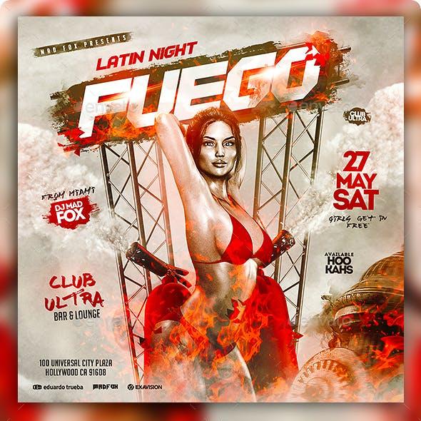 Fuego Latin Night Party Flyer