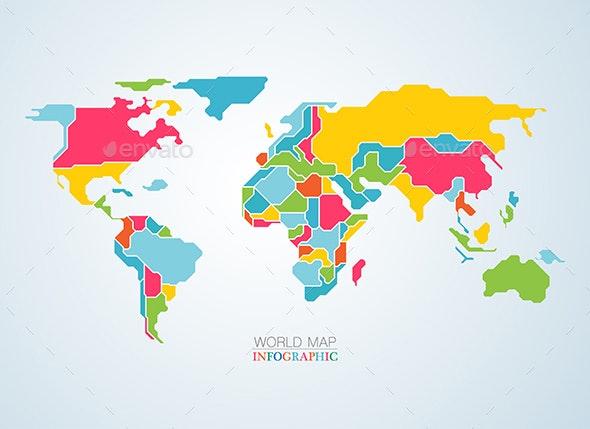 World Map - Miscellaneous Vectors