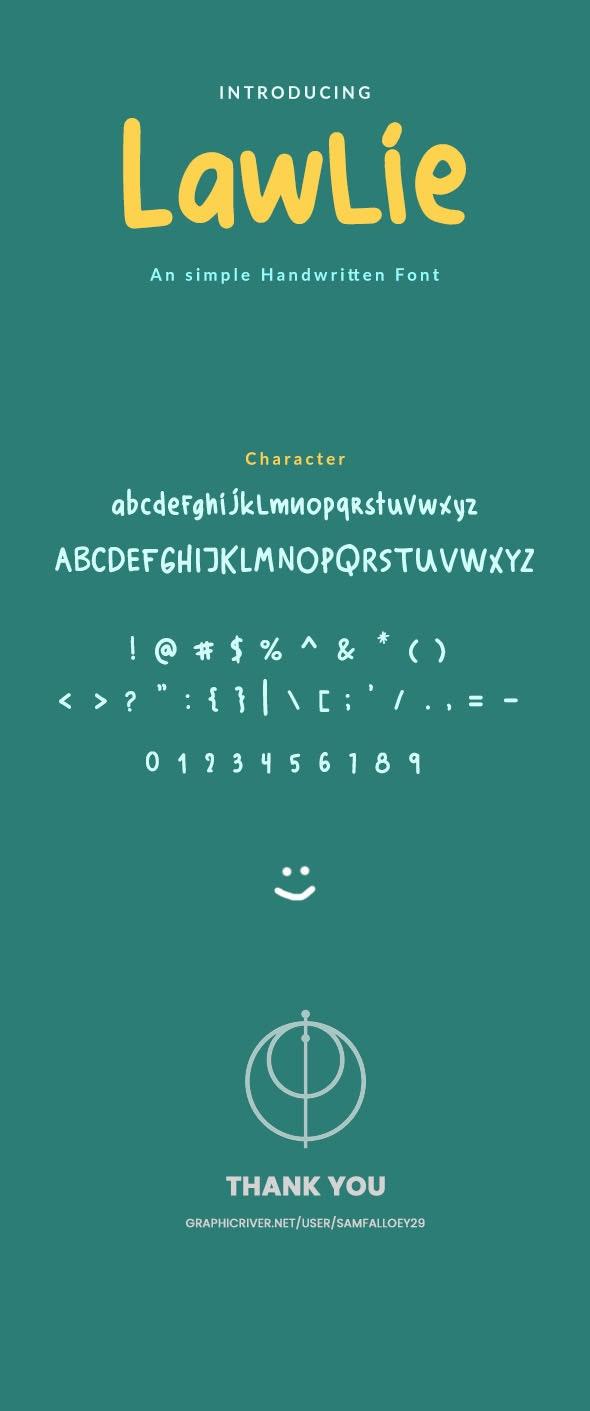 Lawlie - Simple Handwrite - Handwriting Fonts