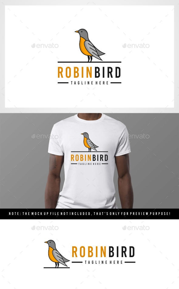Bird - Robin bird logo - Animals Logo Templates