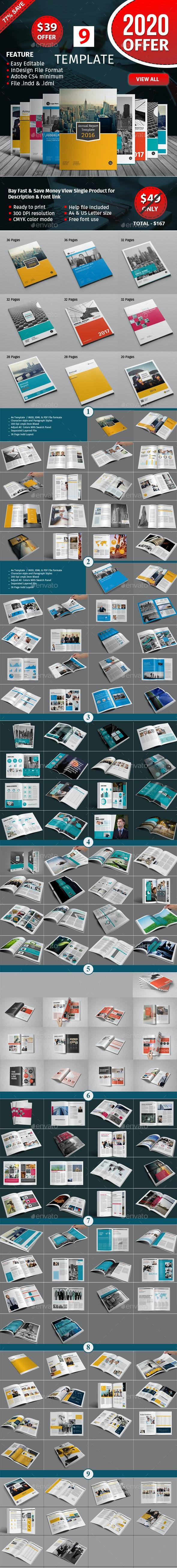 Annual Report Template Bundle - Informational Brochures