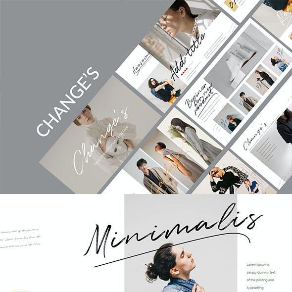 Change Stylish Fashion - Beautiful Powerpoint Template