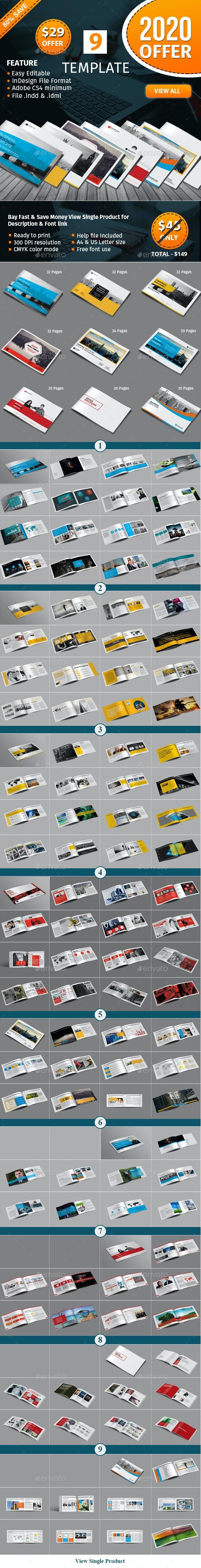 Lanscape Brochure Template Bundle - Corporate Brochures