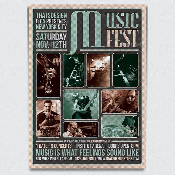 Music Festival Flyer Template V2