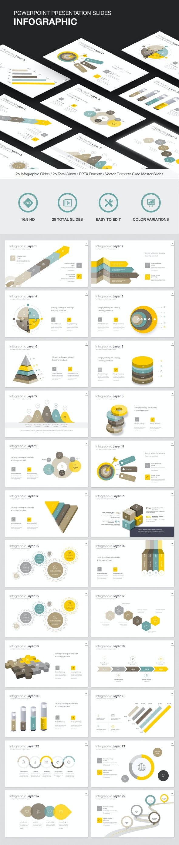 Infographic - Powerpoint Template - PowerPoint Templates Presentation Templates