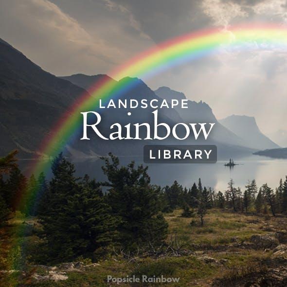 Landscape Rainbow Library - Photoshop Action