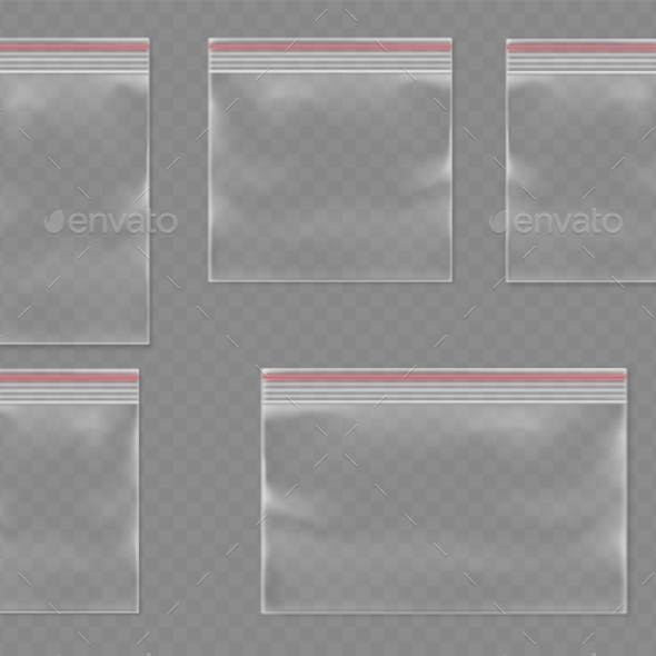 Sealed Polythene Bags or Realistic Plastic Pack
