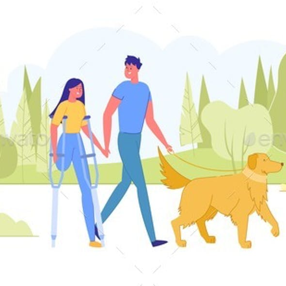 Visually Impaired Man and Disabled Woman on Date.