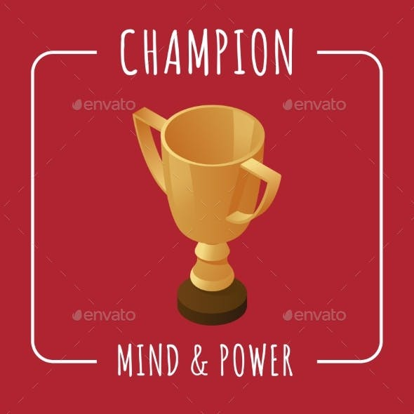 Champion Banner Design Template. Mind and Power