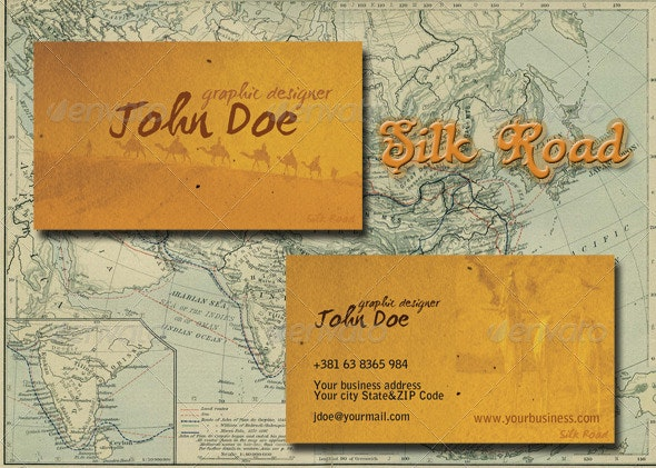 Silk Road Business Card - Creative Business Cards