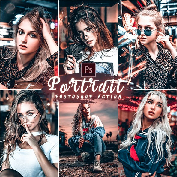 PRO Portrait Photoshop Action