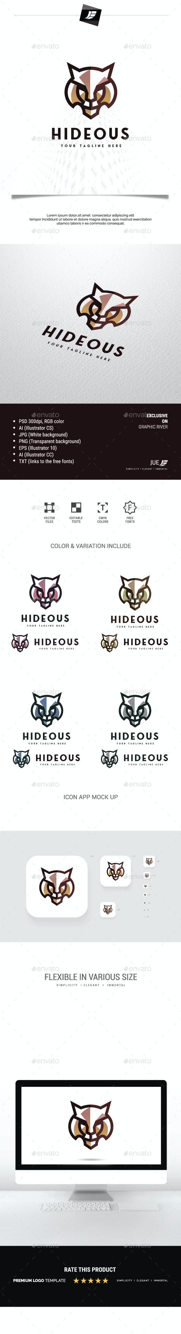 Tiger Hideous Logo - Animals Logo Templates