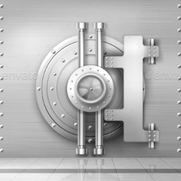 Bank Safe and Vault Door Metal Steel Round Gate