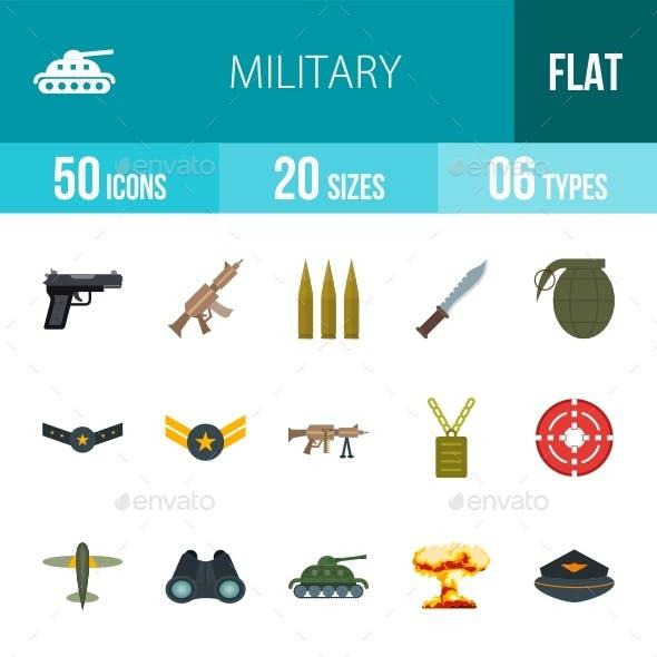 Military Flat Multicolor Icons Season II