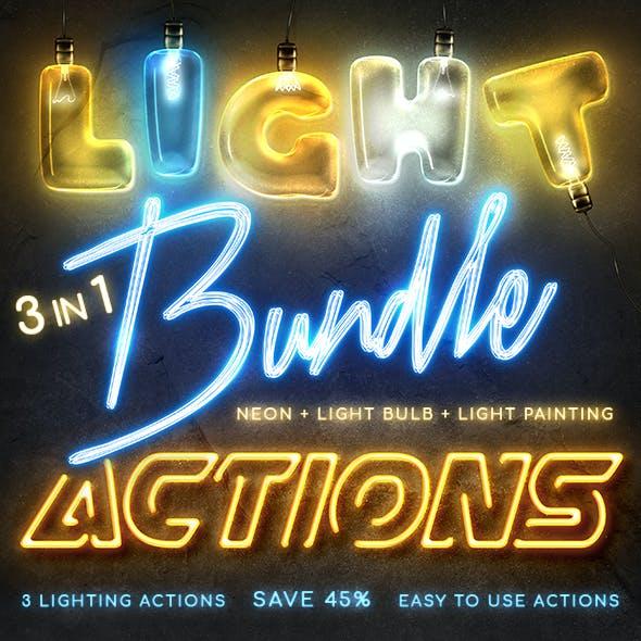Lighting Photoshop Actions Bundle