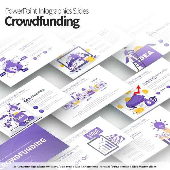 Crowdfunding - PowerPoint Infographics Slides