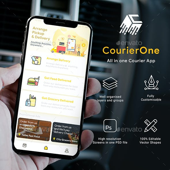 All in one Courier App with User App & Delivery App UI Kit | CourierOne