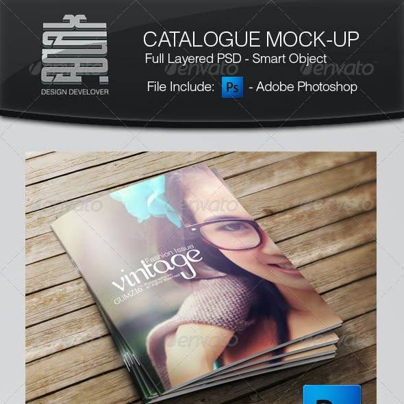 Catalogue Cover Mock-up