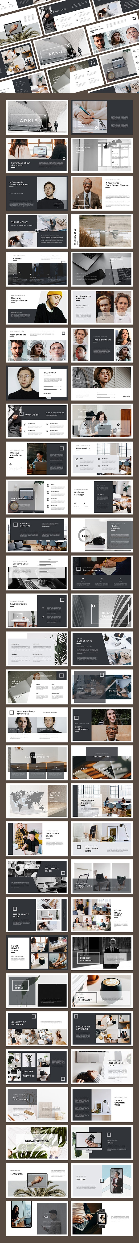 Arkie Keynote Template - Business Keynote Templates